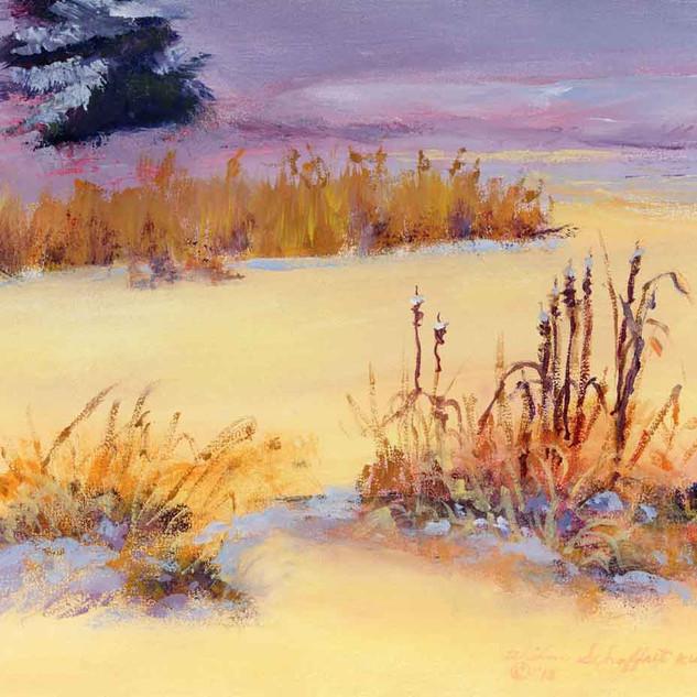 Winter Holmes Lake NE_Acrylic