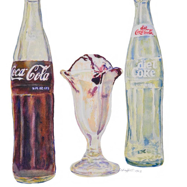 Coke and Sundae_Watercolor
