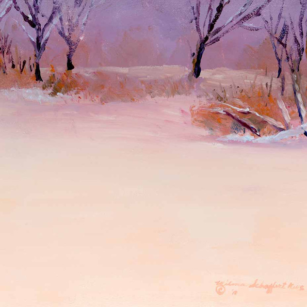 Winter Holmes Lake Two NE_Acrylic