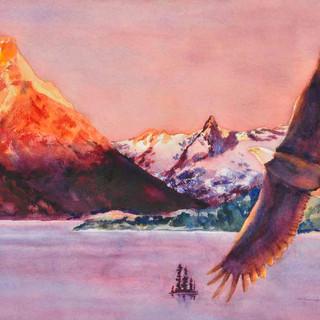 Soaring Eagle Glacier N P_Watercolor