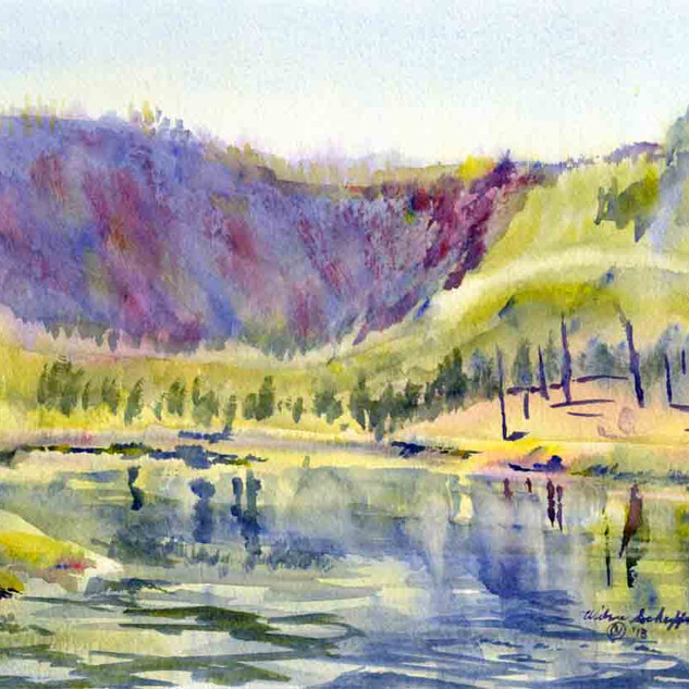 Madison River Y N P_Watercolor