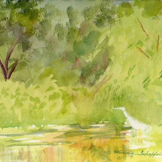 Blue Heron Was There_Watercolor