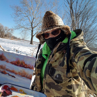 Holmes Lake Winter Plein Air II