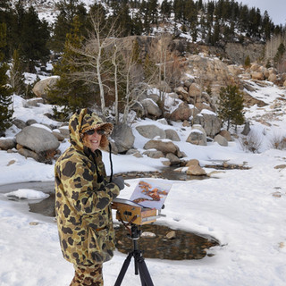 Wilma_Painting_Rocky Mountain National Park