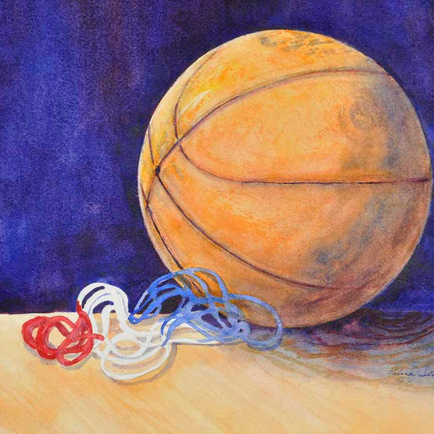 Basketball_Watercolor