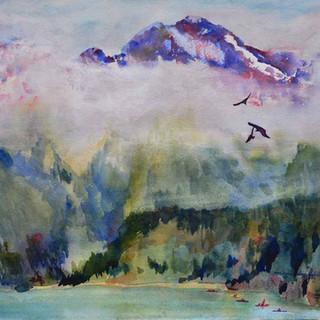 Cascade N P Plein Air_Watercolor