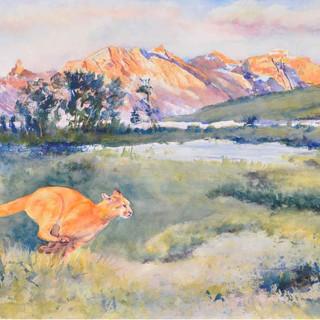 Run Cougar Run Glacier N P_Watercolor
