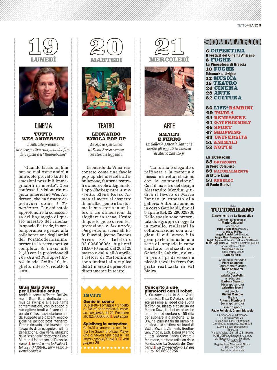 La Repubblica Tuttomilano -  15.03.18