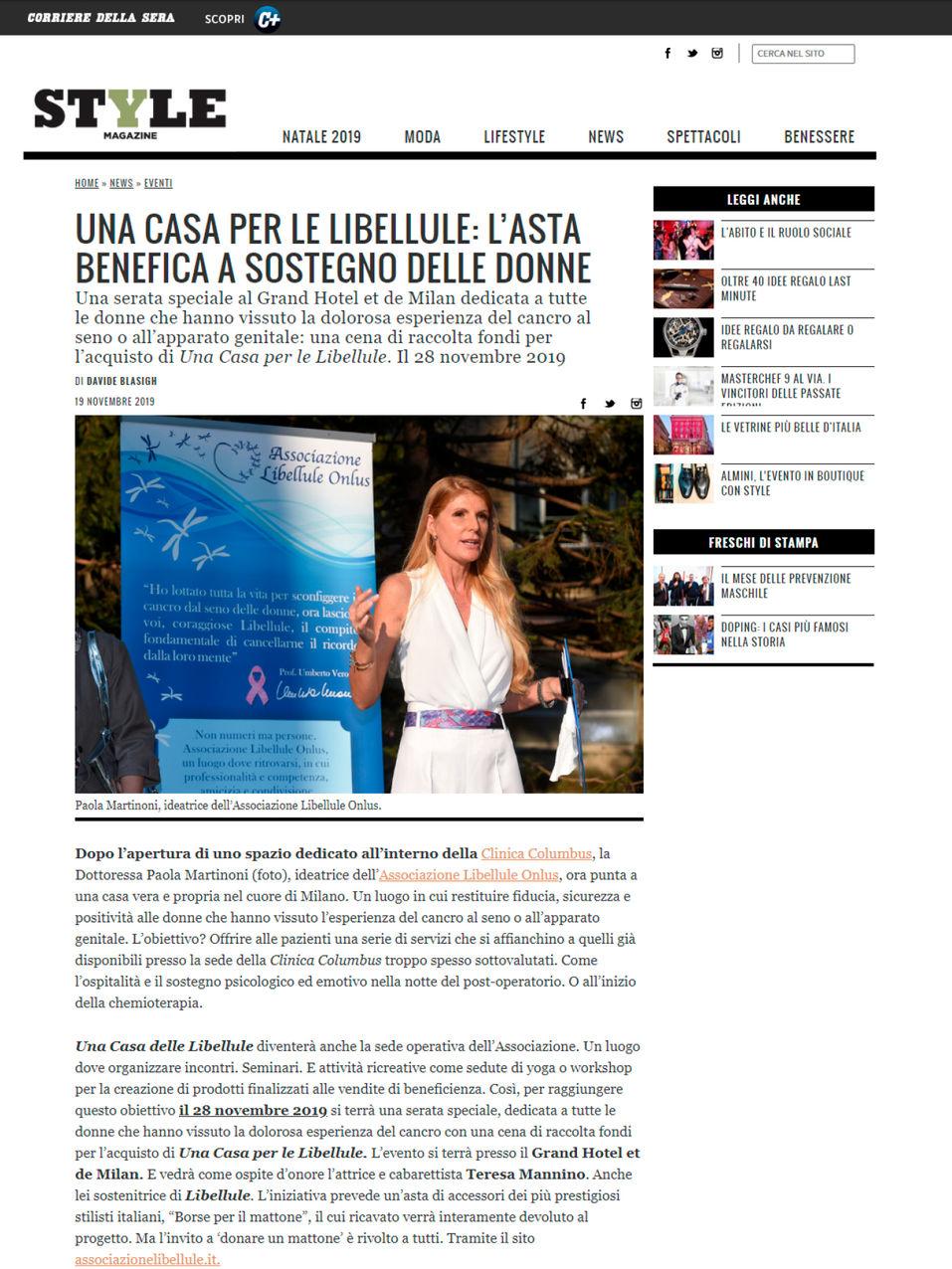 Style Corriere.it - 19.11.19