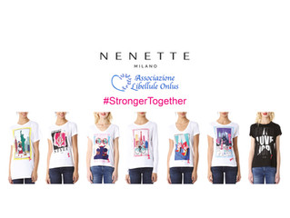 #StrongerTogether - NENETTE per Associazione Libellule, ecco le nuove T-Shirt