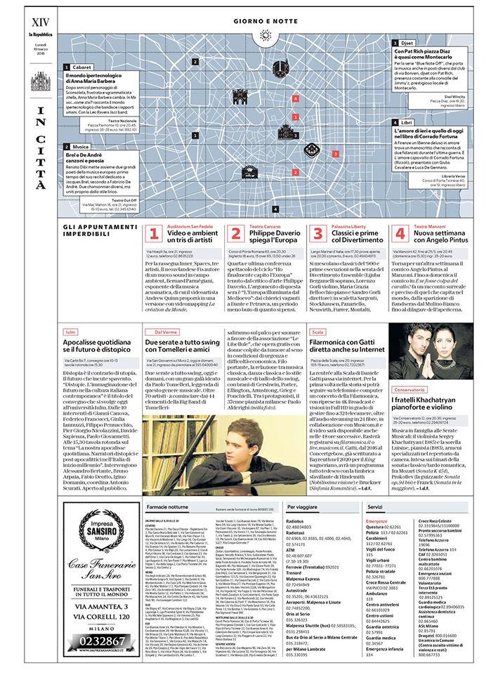 La Repubblica Ed. Milano - 19.03.2018