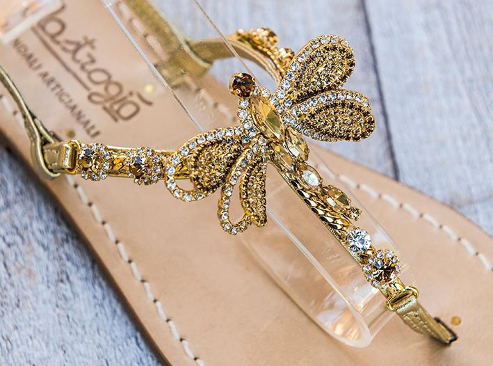 Sandali gioiello Libellule - Oro