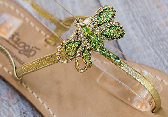 Sandali gioiello Libellule - verde