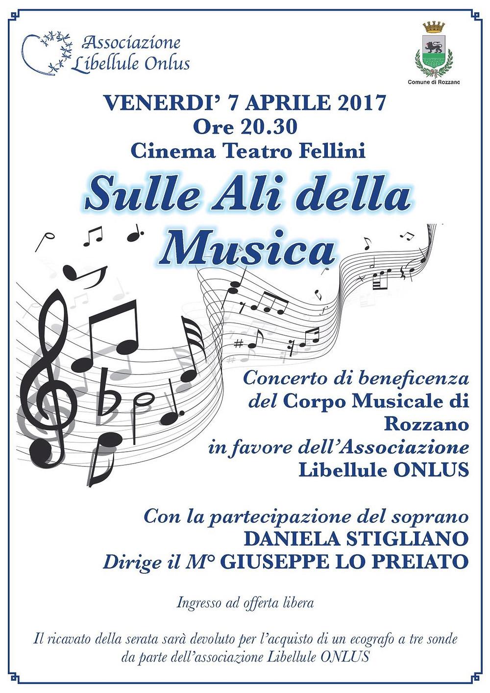 concerto beneficenza Cinema Teatro Fellini Rozzano