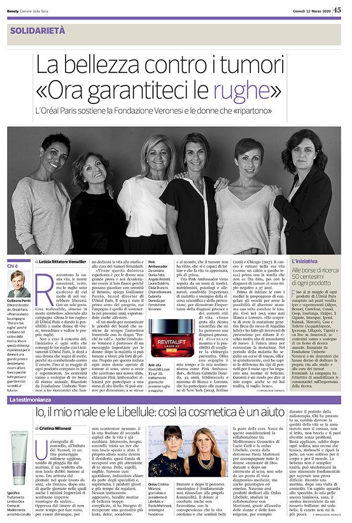 Beauty Corriere della Sera - 12.03.20