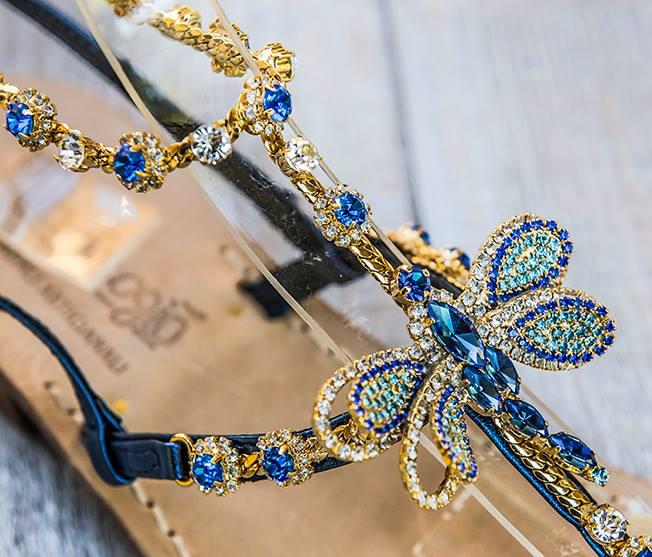 Sandali gioiello Libellule - Blu