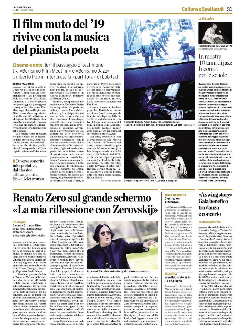 L`Eco di Bergamo - 19.03.18