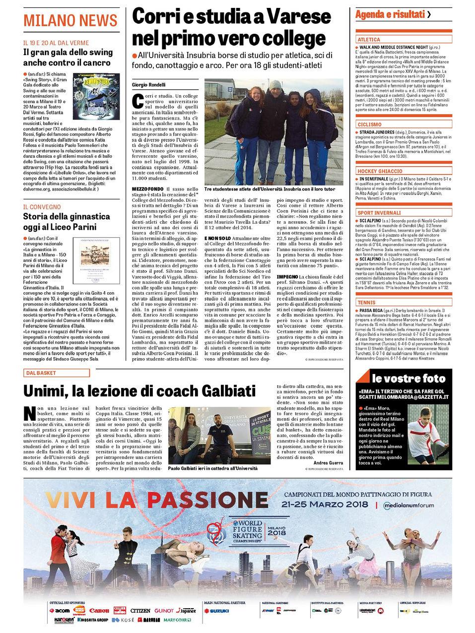 La Gazzetta dello Sport - 15.03.18