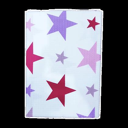 """שמיכה פיקה וופל לתינוק - מידה 130/90 ס""""מ - כוכבים ורודים"""