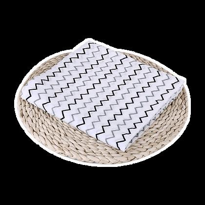 שמיכה / חיתול טטרה -  רך וגדול במיוחד 110/110 - זיג זג