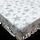 סדין טריקו למיטת תינוק/מעבר 130/70 - מודפס - כוכבים גדולים אפור