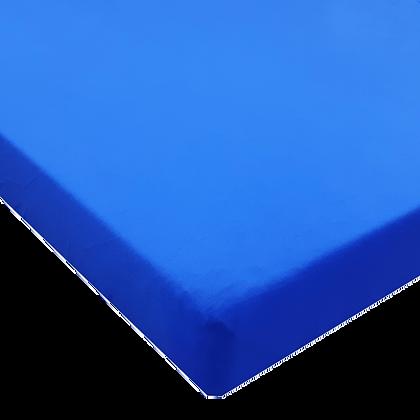 סט מצעים ג'רסי Jersey למיטת תינוק - כחול חלק