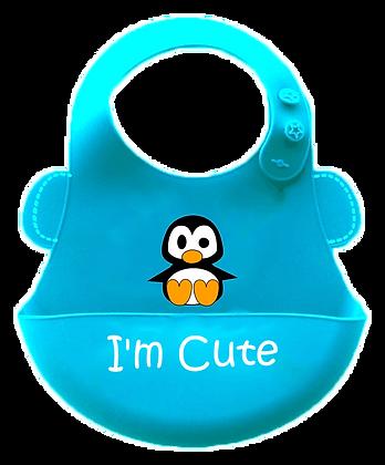 סינר סיליקון - רך במיוחד - פינגווין תכלת