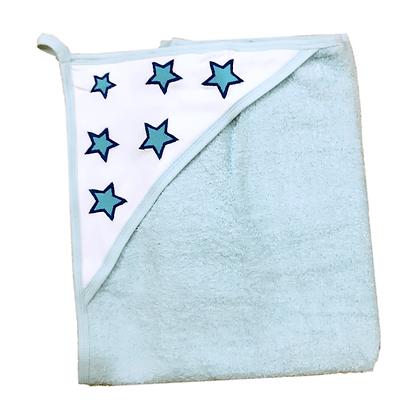 מגבת קפוצ'ון עבה במיוחד - כוכבים תכלת
