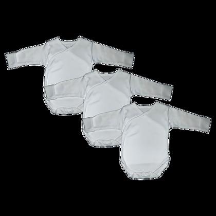 שלישיית בגד גוף חזיה לבן