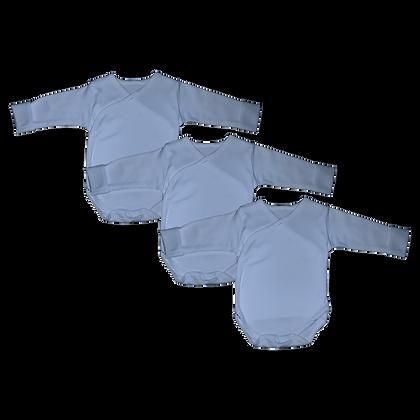 שלישיית בגדי גוף חזיה תכלת