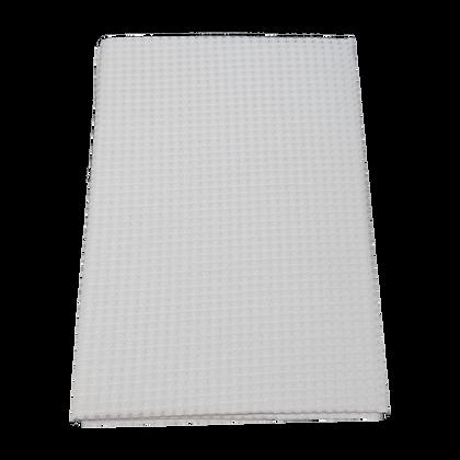 שמיכה פיקה וופל למיטת תינוק - אפור חלק