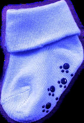 גרביים חלקים - 2 זוגות -3-12 חודש - תכלת