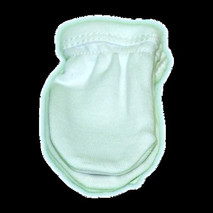 כפפות לתינוק בלבן - נגד סריטות