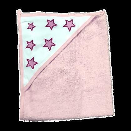 מגבת קפוצ'ון עבה במיוחד - כוכבים ורודים