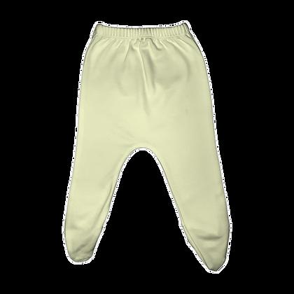 רגלית לתינוק מידה 0-3 חודשים - פלנל - 100% כותנה - צהוב