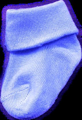 גרביים חלקים - 2 זוגות -0-3 חודש - תכלת