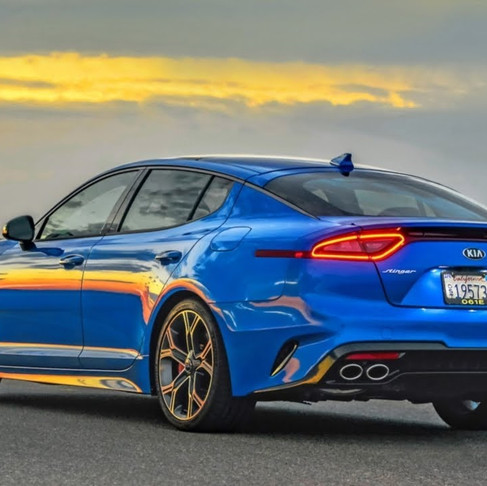 2021 Kia Stinger. Increased power and modified exhaust.