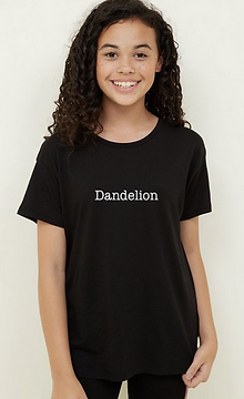 """Dandelion"" printed on a tshirt"
