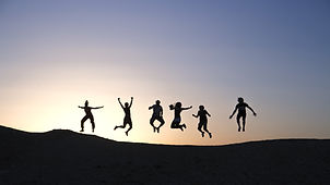 Jumping family is happy after getting family counselling support