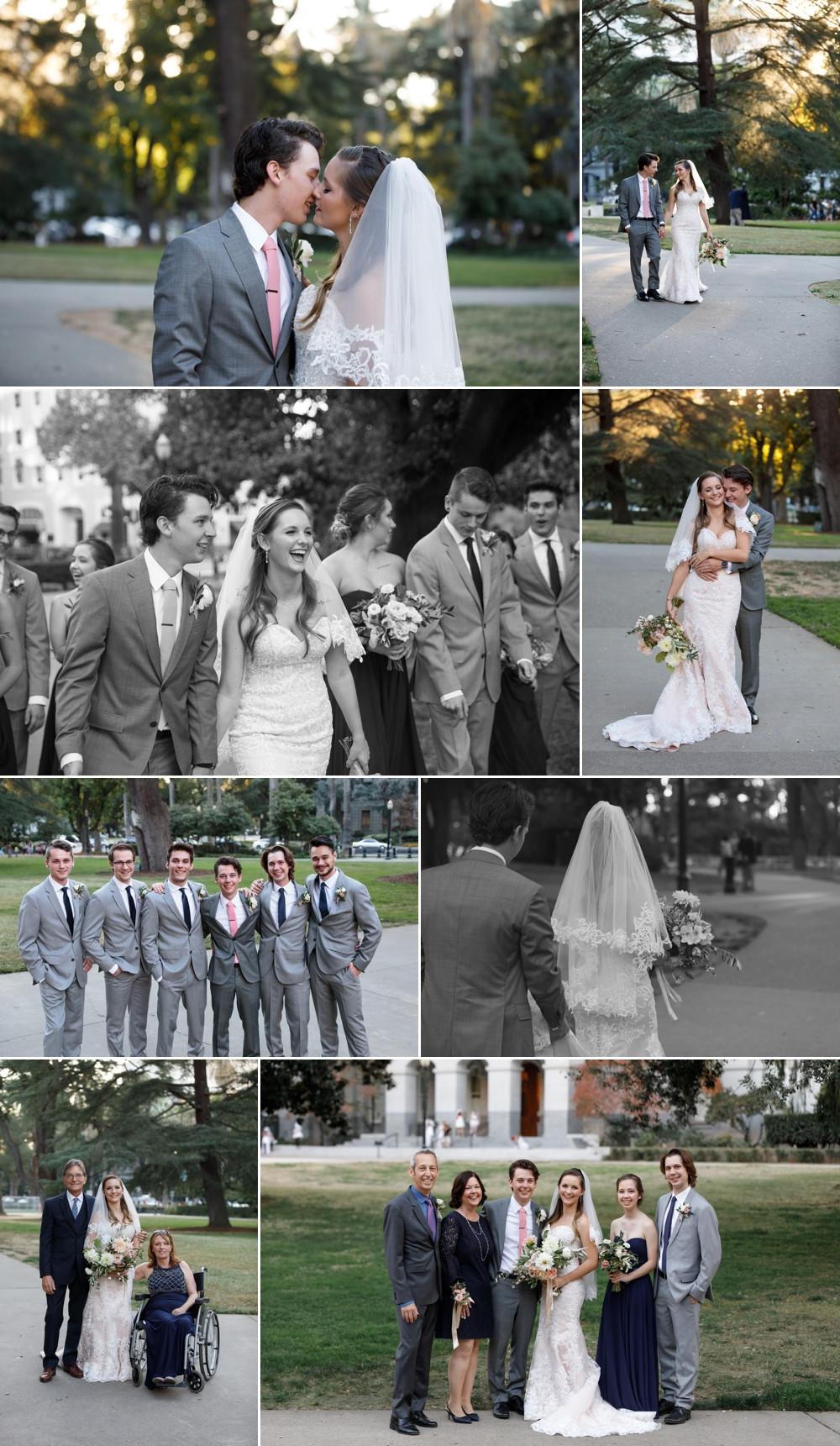 sacramento wedding portraits