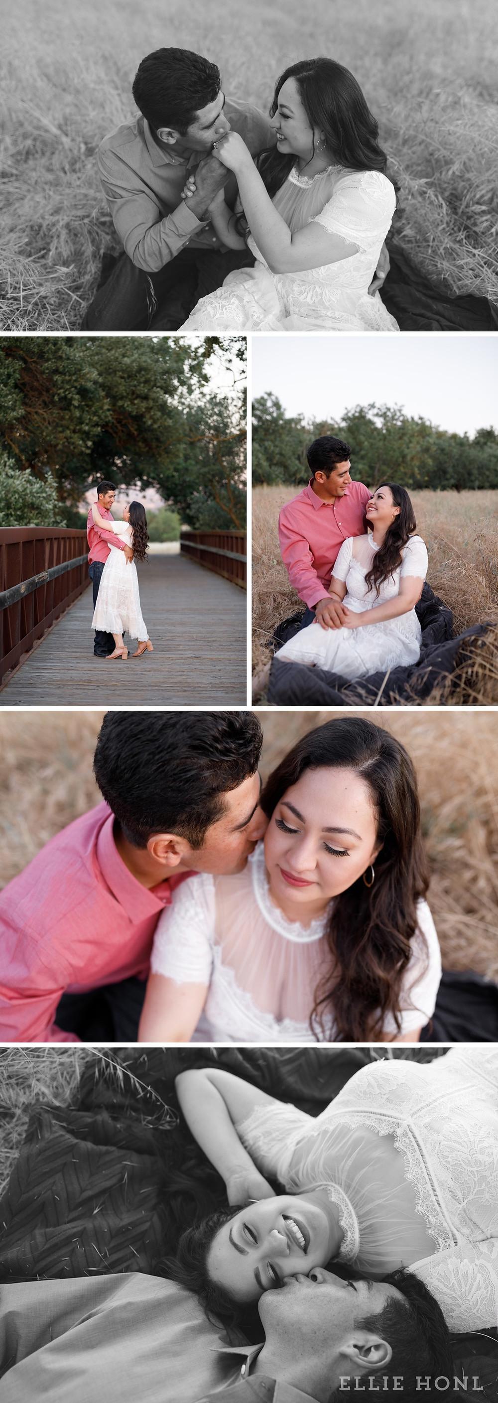 morgan hill engagement photoshoot at Anderson Lake park