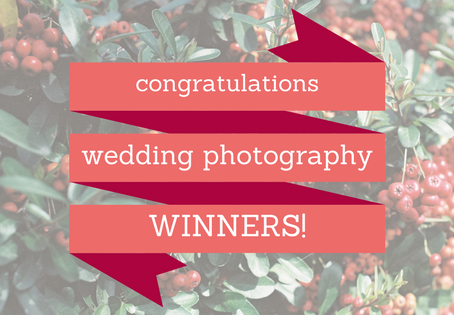 Announcing the Winners of our Wedding Photography Giveaway...