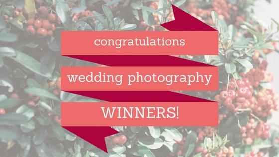 congratulations wedding photography winners