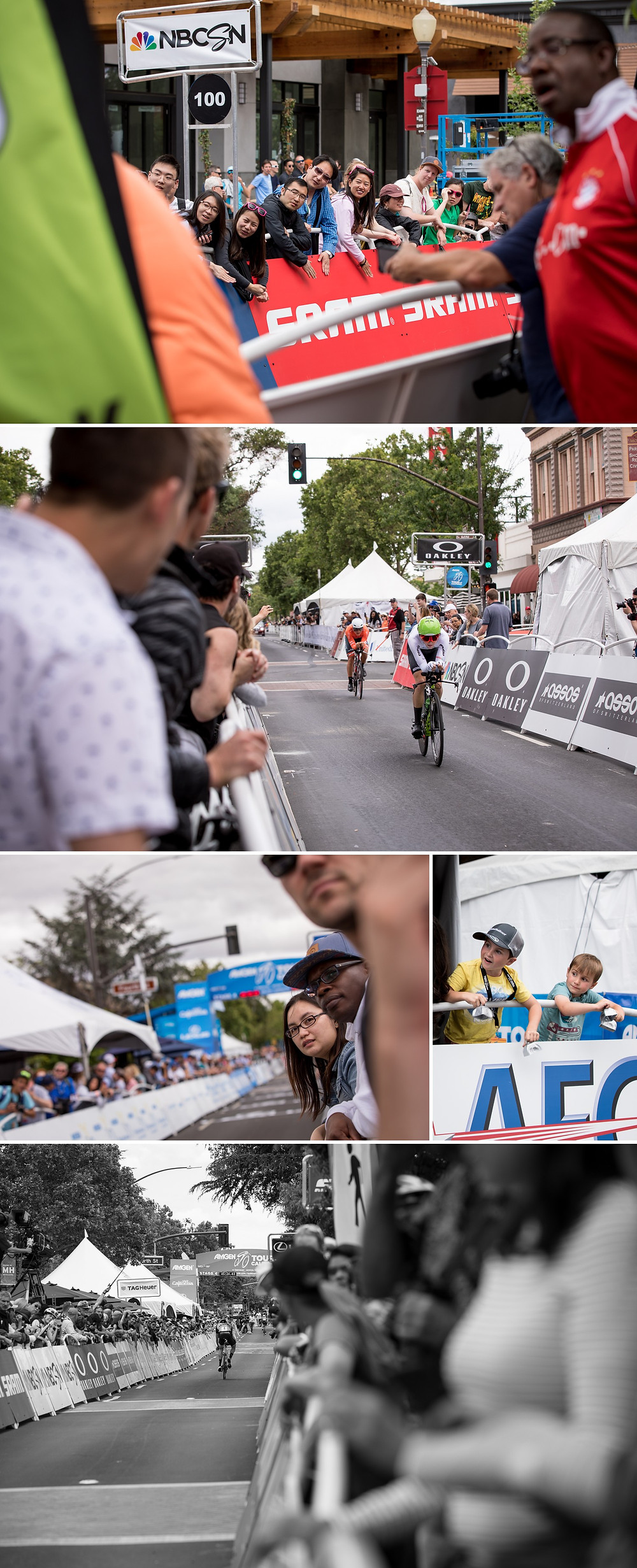 Excitement at the finish line in Downtown Morgan Hill.