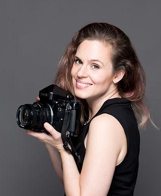 Ellie Honl with Pentax 67ii film camera