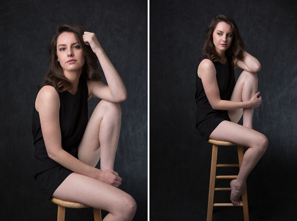 An editorial inspired portrait photoshoot in my studio in San Jose .