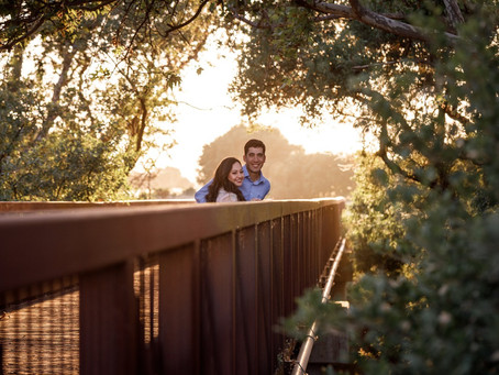 Romantic Morgan Hill Park Engagement on a Bridge