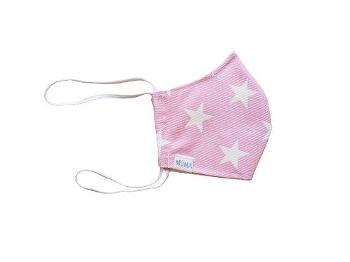 Mascarilla rosado estrellas
