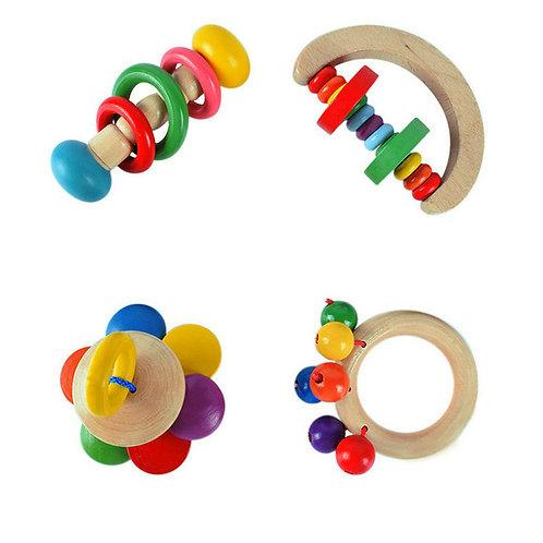 Set sonajeros de madera