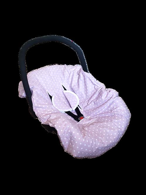 Cobertor de huevito lila